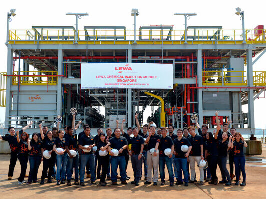 Biggest chemical injection package ever constructed and built by LEWA